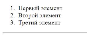 Одиночный HTML тег