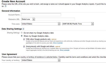 Регистрируем сайт в сервисе Google Analytics