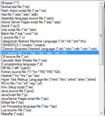 Бесплатный редактор Notepad++, синтаксис языков, который распознает Notepad++