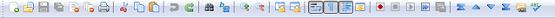 Стандартные мелкие значки панели инструментов Notepad++