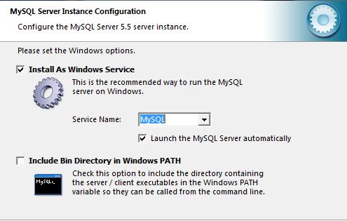 Устанавливаем сервер MySQL как службу windows