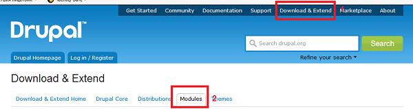 Где можно скачать модули Drupal