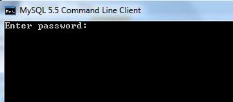 Ввод пароля администратора MySQL сервера.