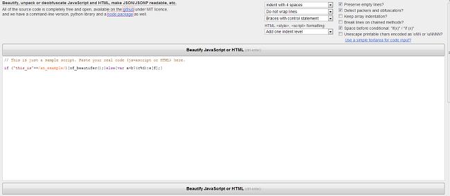Форматирование JavaScript кода