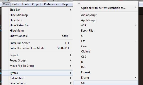 Подсветка синтаксиса в Sublime Text 2