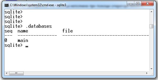 Команда .database показывает, какие базы данных доступны для управления SQLite3