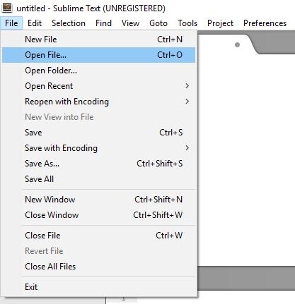 Работа с файлами в JavaScript редакторе Sublime Text 3