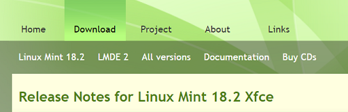 Раздел Downloads на официальном сайте Linux Mint