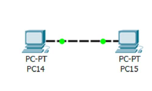 Два ПК соединены, связность на физическом уровне появилась
