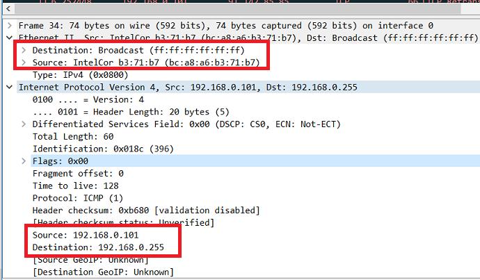 4.8.5 Так выглядит широковещательный запрос в Wireshark