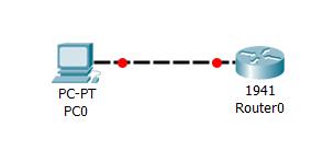 4.10.10 Добавляем маршрутизатор Cisco на схему и соединяем с ПК