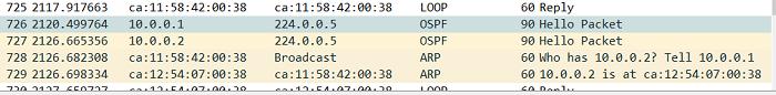 1.7 Установление соседства в OSPF