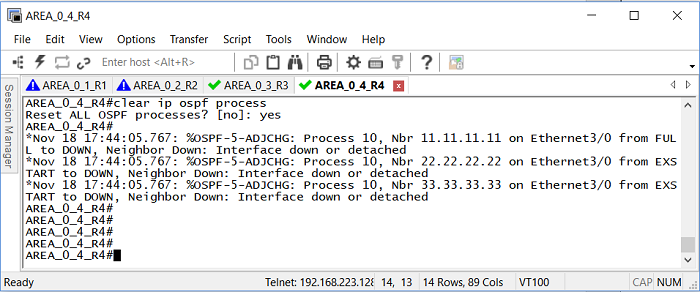 2.0 Перезапуск процесса OSPF на роутере Cisco