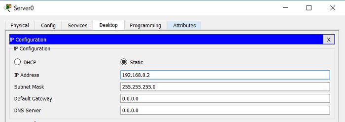 2.3 Настройки протокола IP на DHCP сервере