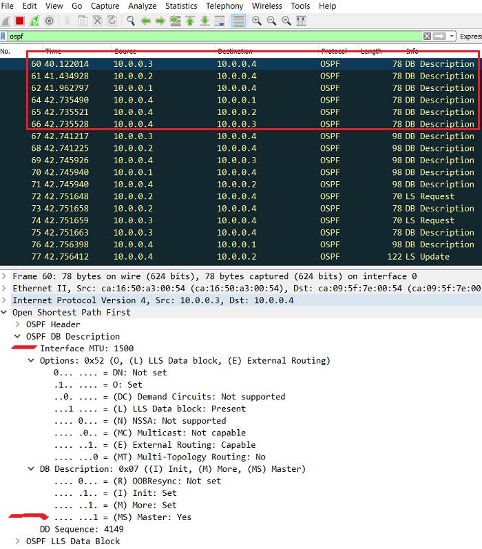 2.6 Начало выборов DR и BDR в OSPF